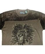 Marc Buchanan Pelle Pelle Lion Embroidery Mens XXL Brown Sweater Crewnec... - $43.49