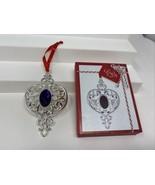 Lenox Bejeweled Silver Plate Spire Ornament Deep Purple Crystal Original... - $19.79