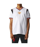 Adidas Manchester United FC Away Jersey Men's T-Shirt White-Black-Red - $49.95