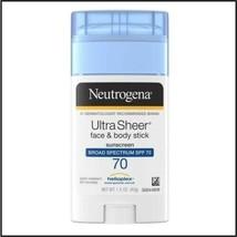 3 - Neutrogena Ultra Sheer Face & Body Stick Sunscreen - Spf 70 - 1.5 Oz. Each - $24.99