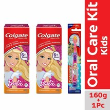 Colgate Anticavity Kids Pack Of 2 Barbie Strawberry Toothpaste 80g & 1To... - $12.55