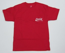 Coca-Cola Red Tee Shirt w/Pocket - NEW  Large - $15.35