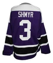 Any Name Number Cleveland Crusaders Custom Retro Hockey Jersey Shmyr Purple image 2