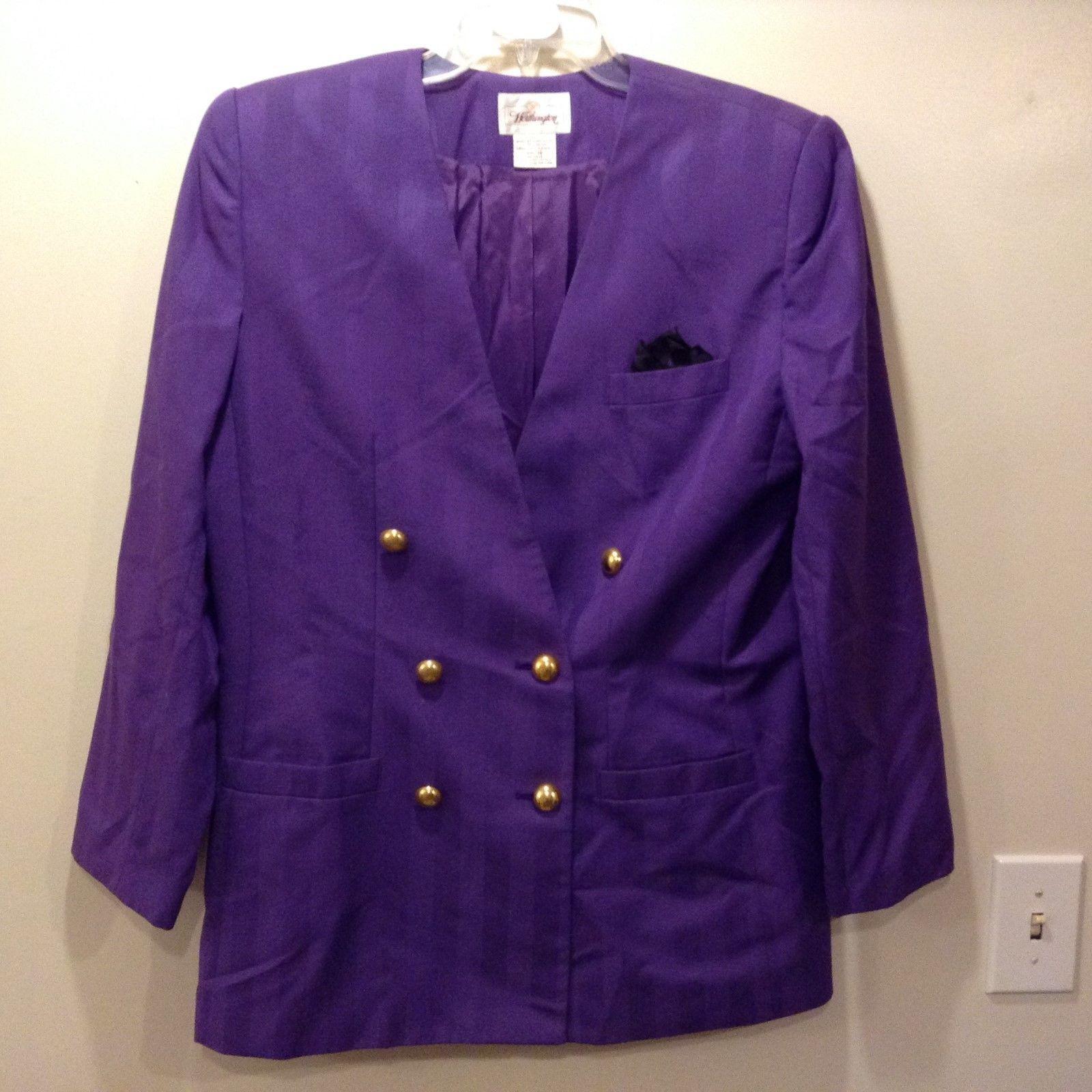 Worthington Purple Skirt Suit Sz 16