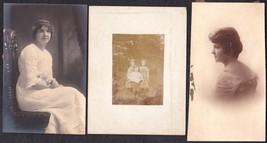 Bills Family of Newfane VT (3) Photos - Helen, Melvina & Lewis Bills - $34.50
