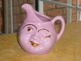 1951 California Pottery VALLONA STARR Purple Winky Winkie Pitcher #303 - $94.05