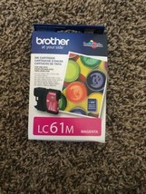 NEW Brother LC61M LC61 Magenta Ink Cart Genuine! - $25.62