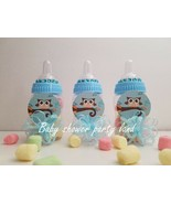 Baby Shower 12 Owl Favor Fillable Bottles Prizes Games Boy Blue Decorations - $18.69