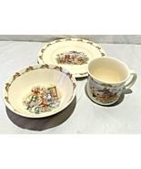 Vintage 1984 Bunnykins Royal Doulton Golden Jubilee Cup, Plate, Bowl..Bo... - $24.74