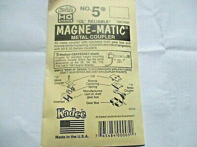 Kadee #5 Metal Coupler Medium Centerset Shank 2 Pair HO Scale
