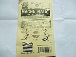 Kadee #5 Metal Coupler Medium Centerset Shank 2 Pair HO Scale image 1