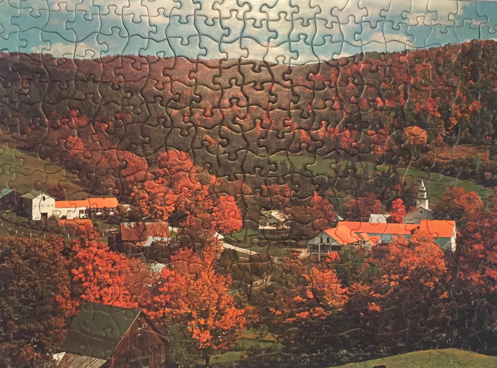 "Vintage 50s Tuco Interlocking Picture Puzzle- #5980B ""Indian Summer"""