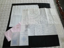Quilt Markings, etc. BABY INNOCENCE NEEDLEWORK or QUILT PATTERN w/Fabric... - $14.85