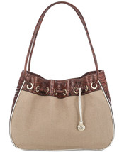 NWT BRAHMIN AMY  BAL HARBOUR EXTRA LARGE SHOULDER BAG PECAN - $173.24