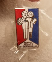 NEW Vtg Travel Agents International Pin Retro Vacation Planners Lapel Badge - $13.57