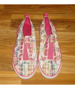 Authentic Coach Katie Poppy Plaid Slip On Sneakers~8.5~ - $40.00