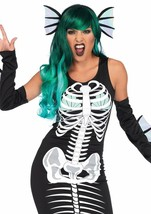 Leg Avenue Skeleton Siren Mythical Skull Adult Womens Halloween Costume ... - $34.99
