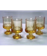 Vintage TIFFIN GLASS Franciscan Madeira Cornsilk JUICE GLASSES Yellow - ... - $36.42
