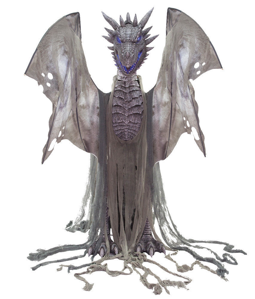 Winter Dragon Animated Prop 7' Animatronic Halloween Decoration