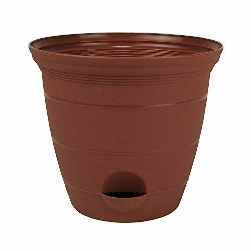 Primary image for Plastic Self Watering Flower Potted Clay Color 6, 8, 10, 12 inch Planter Pot Gar