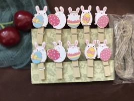 30pieces Pink Totoro Photo Clips,Wooden Pegs,Clothespin Crafts,Children'... - $7.20
