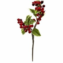 """Luxury Multicolor  Holly Berry Artificial Flower (Set of 6) - 16"""" - $76.86"""