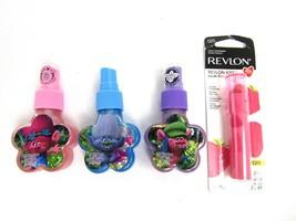 3 Dreamworks TROLLS Body Glitter Spray Fruit Scented + Revlon Kiss Balm. New - $8.38