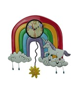 "Allen Designs ""Rainbows & Unicorns"" Whimsical Pendulum Wall Clock - $65.34"