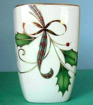 Lenox Holiday Nouveau Bathroom Tumbler Cup Holly/Berry Design New - $39.90