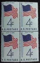 Four Unused 1960 U.S. Postage Stamps 50 Stars Flag - $1.49