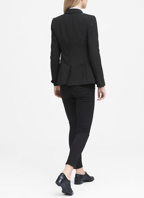 Banana Republic Long and Lean-Fit Lightweight Wool Blazer Women's Fashion Work B