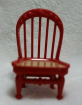 Fisher Price Loving Family Red Tan Chair Kitchen Dinning Room Furniture ... - $12.86