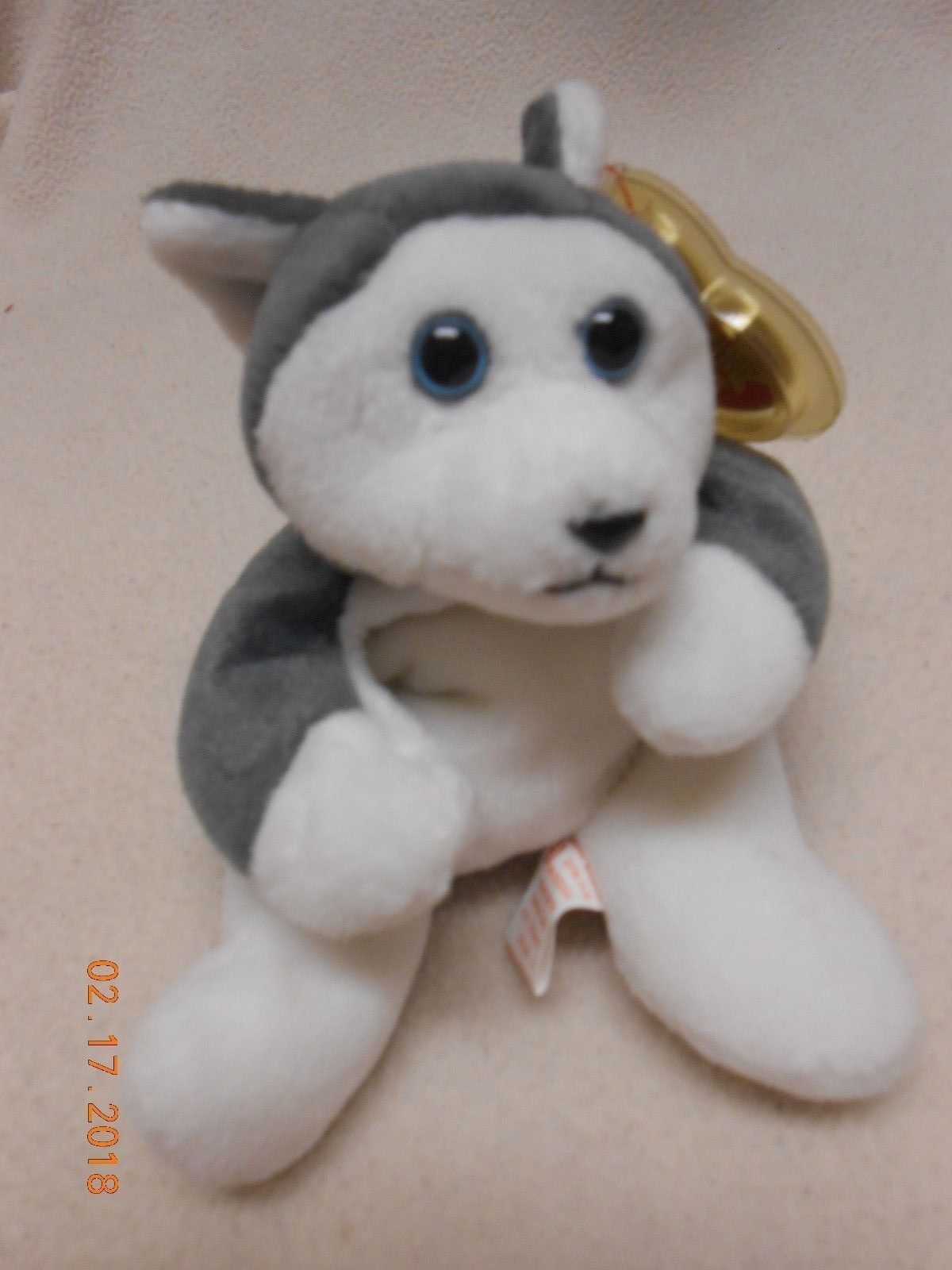 Primary image for Rare Retired Ty Original Beanie Baby Nanook the Huskie Dog Same Day Free Ship