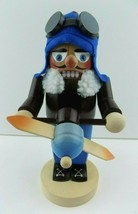 Original Steinbach Germany Nutcracker Aviator Pilot Wood Figure Blue Chr... - $89.09