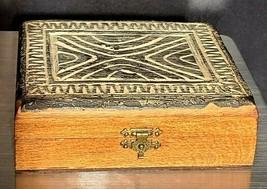 Vintage Hand Carved Wooden Trinket Box Tahiti French Polynesian Tiki Art