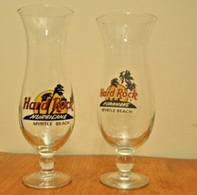 2- Hard Rock Cafe Hurricane Myrtle Beach Glasses - $7.57