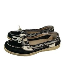 Sperry Black & White Top-Sider Boat Shoes Size 6.5 6 1/2 - $24.75
