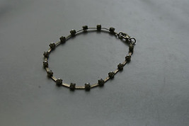 Old Vintage Jewelry Bracelet Rhinestones and Faux? Pearls Silver Colored... - $9.99
