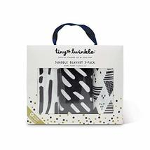 Tiny Twinkle Swaddle Blanket (Pack of 3, Ink Strokes)