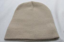 "Tan Beanie Cap New 8"" Knit Hat Ski Winter Skull Plain Short 1 Size Stay ... - $9.81"