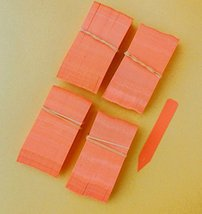 """50 Orange Plastic Plant Stakes Labels Nursery Tags Made in USA - 4"""" X 5/8"""" - $9.80"""