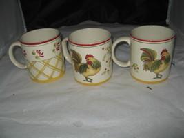 """(3) 2004 Royal Doulton """"Chanticlair"""" Rooster Mugs-TC1301  - $9.99"""