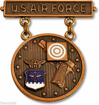 Air Force Elementary Excellence In Competition Military Pistol Badge Usa Made - $72.19