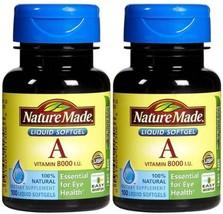 Nature Made Vitamin A 2,400 mcg 8,000 IU, 100 Softgels Pack of 2 - $12.74