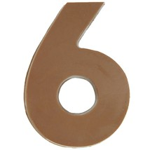 Philadelphia Candies Solid Milk Chocolate Number 6 (Six), 1.75 Ounce Novelt Gift - $9.85