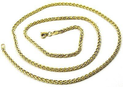9K YELLOW GOLD CHAIN SPIGA EAR ROPE LINKS 2.5 MM THICKNESS, 24 INCHES, 60 CM