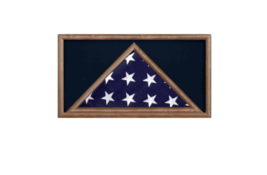 MILITARY MEMORIAL BURIAL FLAG AND AWARD MEDAL DISPLAY CASE SHADOW BOX - $636.49