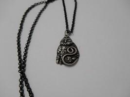 Signed Laurel Burch~1993 Flowering Cat Pewter Pendant~Black Chain Link Necklace - $65.00