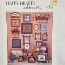 Happy Hearts Friendship Stitches Cross Stitch Pattern Leaflet Book 5 Cou... - $9.99