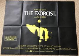 The Exorcist Original UK Quad Film Movie Poster. - $158.96